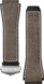 Коричневый каучуковый ремешок с кожаными вставками