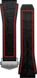 Каучуковый ремешок черного цвета с красными акцентами