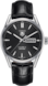 TAG HEUER CARRERA Black Leather Alligator Steel Черный