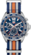 TAG HEUER FORMULA 1(F1)腕錶 藍色和橙色 Nato錶帶 精鋼 藍色