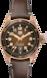 TAG Heuer Autavia 棕色 皮革 青銅 HX0U25