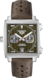 TAG Heuer Monaco(摩納哥)腕錶 棕色 皮革 精鋼 綠色日內瓦波紋