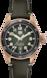 TAG Heuer Autavia腕錶 黑色 皮革 青銅 綠色
