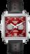 TAG Heuer Monaco(摩納哥)腕錶 藍色 皮革 精鋼 紅色
