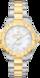 TAG HEUER AQUARACER(競潛) 無色 雙色鍍層 精鋼 白色