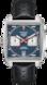 TAG Heuer Monaco(摩納哥)腕錶 黑色 皮革 精鋼 藍色