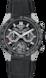 TAG Heuer Carrera(卡萊拉)系列 黑色 橡膠和鱷魚皮 鈦金屬和陶瓷 黑色