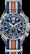 TAG HEUER FORMULA 1 藍色和橙色 Nato錶帶 精鋼 藍色