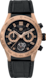 TAG Heuer Carrera(卡萊拉)系列 黑色 橡膠和鱷魚皮 鈦金屬和黃金 黑色