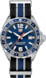 TAG HEUER FORMULA 1 黑色、灰色和藍色 Nato錶帶 精鋼 藍色