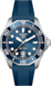 TAG Heuer Aquaracer(競潛)專業300腕錶 藍色 橡膠 精鋼 藍色