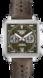 TAG Heuer Monaco(摩纳哥系列)腕表 棕色 皮革 精钢 绿色日内瓦波纹
