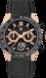 TAG Heuer Carrera(卡莱拉系列)腕表 黑色 橡胶和鳄鱼皮 钛金属和黄金 黑色