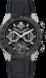 TAG HEUER CARRERA(卡莱拉系列)腕表 黑色 橡胶和鳄鱼皮 钛金属和陶瓷 黑色