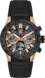 TAG Heuer Carrera(卡莱拉系列)腕表 黑色 橡胶 精钢和黄金 HX0S88