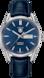 TAG Heuer Carrera(卡莱拉系列)腕表 蓝色 鳄鱼皮 精钢 蓝色