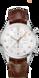 TAG Heuer Carrera(卡莱拉系列)腕表 棕色 鳄鱼皮 精钢 银色