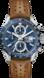TAG Heuer Carrera(卡莱拉系列)腕表 棕色 皮革 精钢 蓝色